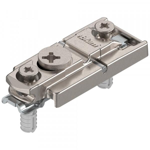 Blum Clip Top Montageplatte mit Schrauben und Spreizdübeln 177H5400E 0 mm