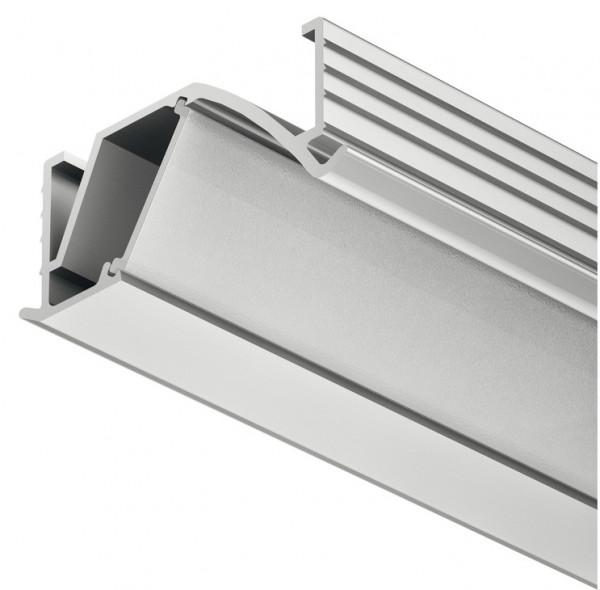 Häfele Einbauprofil Loox abgewinkelt 14 mm Tiefe Aluminium Streuscheibe mattiert