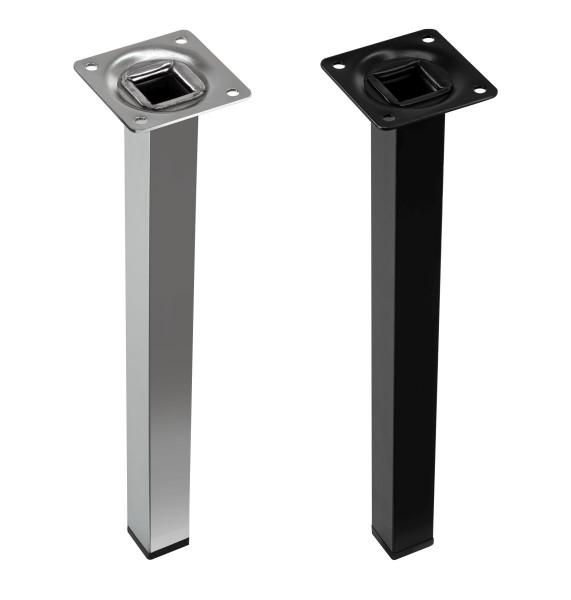 Möbelfuß QUADA aus Stahl mit M10 Gewinde bis 100 kg