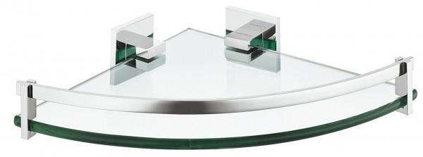 Häfele Badregal H1095 Messing Viertelkreis Ablage mit Glas chrom poliert