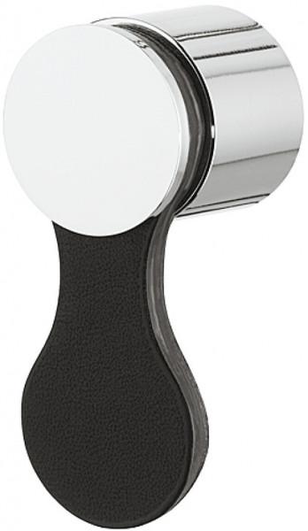 Häfele Möbelknopf H1753 Klöppelgriff Leder/Aluminium Höhe 60 mm