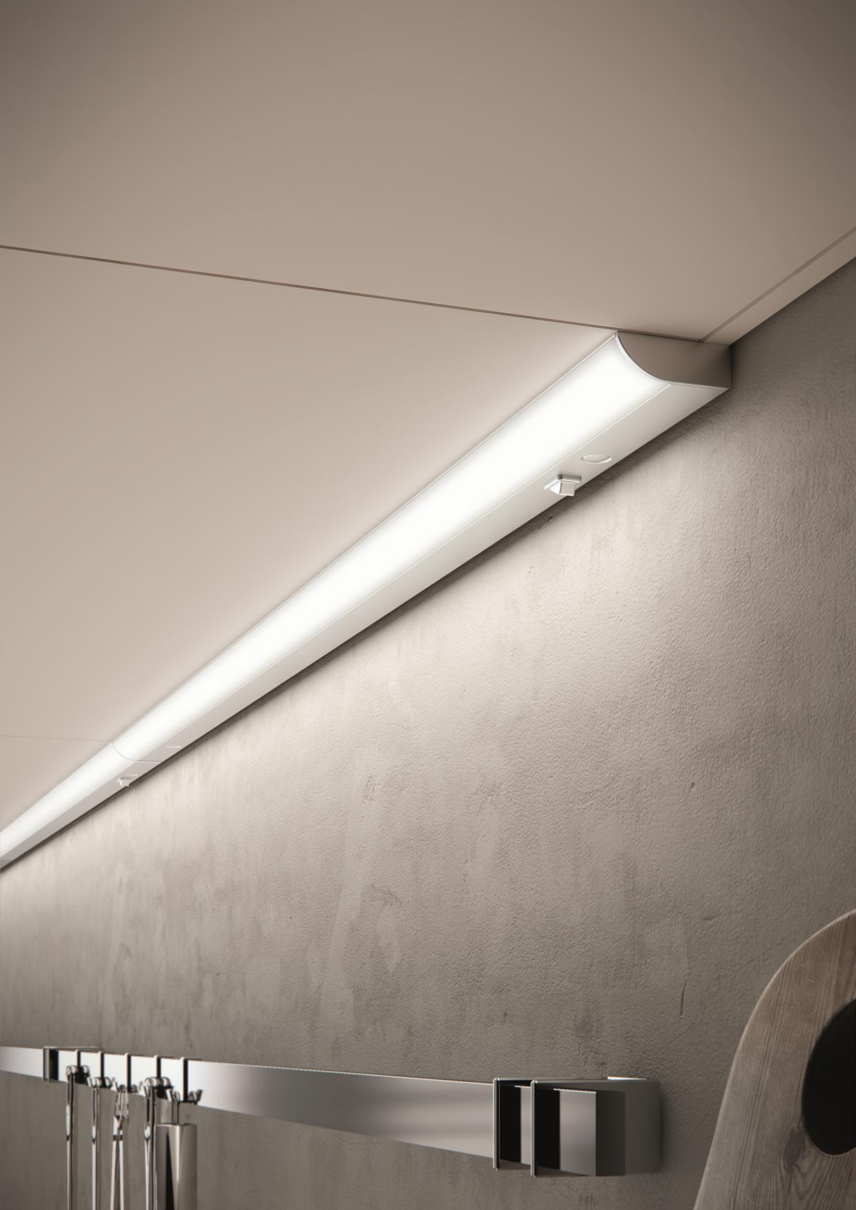Domus Line LED Unterbauleuchte Küche FLOW Aluminium Lichtleiste 19V