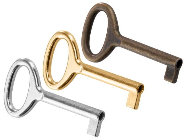 Möbelschlüssel PAGANINI aus Metall Schaftlänge 35 mm