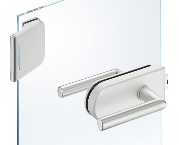 JUVA Glastür-Garnitur GHR 103 rund für Drehtüren im Wohnbereich