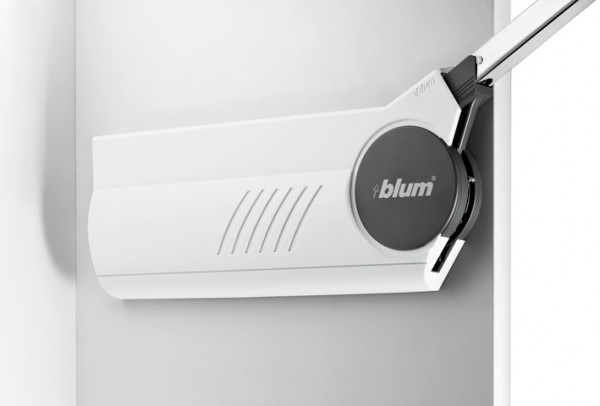 Blum Hochfaltbeschlag Aventos HF Klappenbeschlag für zweiteilige Klappen - Abdeckkappen seidenweiß
