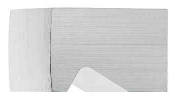 Häfele Möbelknopf H2038 Aluminium silber eloxiert Schrankknopf mit Griffmulde