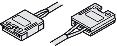 Häfele Verbindungsleitung 12 V mit Clip für Loox LED-Band 10 mm