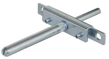 Häfele Tablarträger H3302 mit Anschraubplatte und Steckbolzen Stahl verzinkt