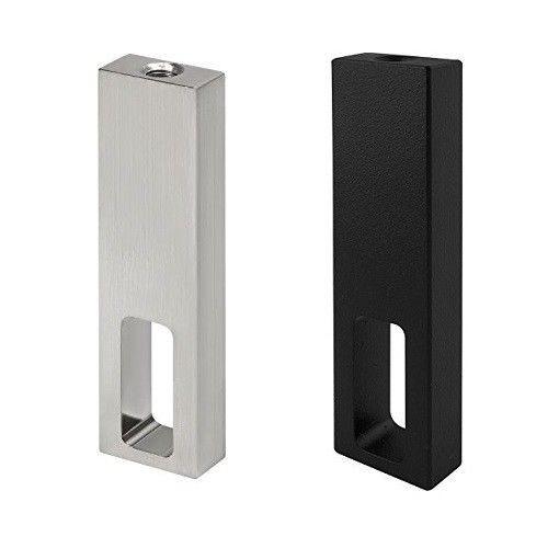 Schrankrohr Mittelträger eckig 25x10 Nano / Nano Black