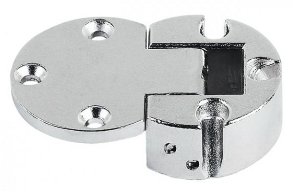 Häfele Klappenscharnier Plano Medial Ø 30 mm für Holzklappen Zinkdruckguss