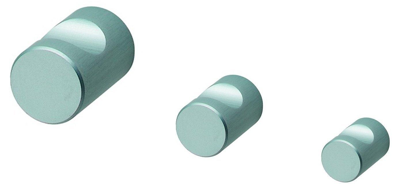 Möbelknopf LENA mit Griffmulde Aluminium natur eloxiert