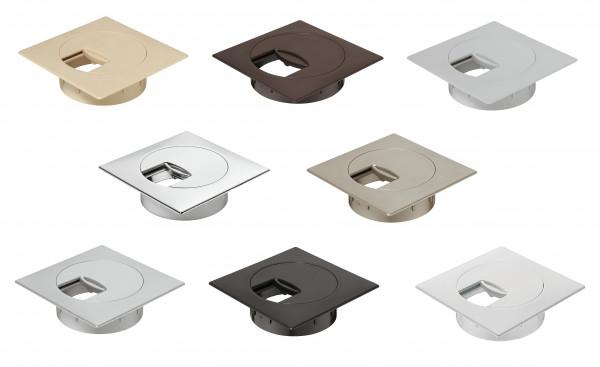 Häfele Kabeldurchlass quadratisch 80 mm Plaza Kunststoff
