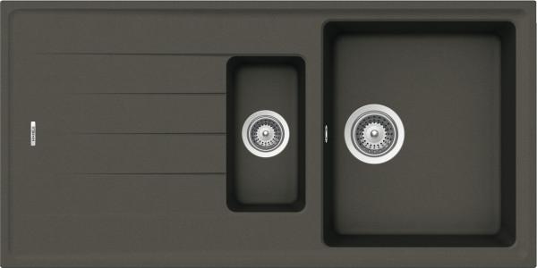 Aufbauspüle AS01B aus Quarzkomposit 1000 x 500 mm Anthrazit