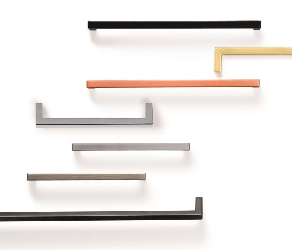 Möbelgriff U aus Metall eckig 8,5 x 8,5 mm, BA 128 - 492 mm