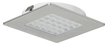 Häfele Einbauleuchte 24V quadratisch LED 1082 edelstahlfarben