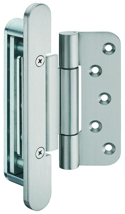 Häfele Startec Objekttürband, Größe 120 mm - Türband für Aufnahmeelement VX - für ungefälzte Türen,