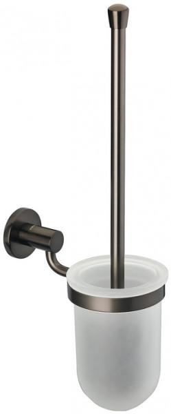 Häfele WC-Bürstengarnitur H5751 Messing graphit-schwarz rund