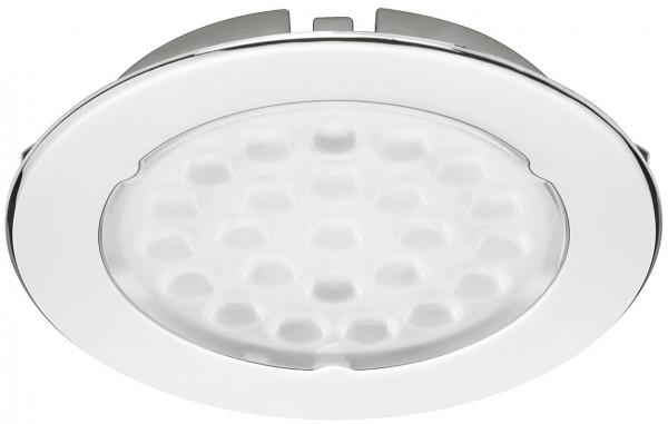 Häfele Einbauleuchte 12 V rund LED 1075 Einbauspot Kunststoff