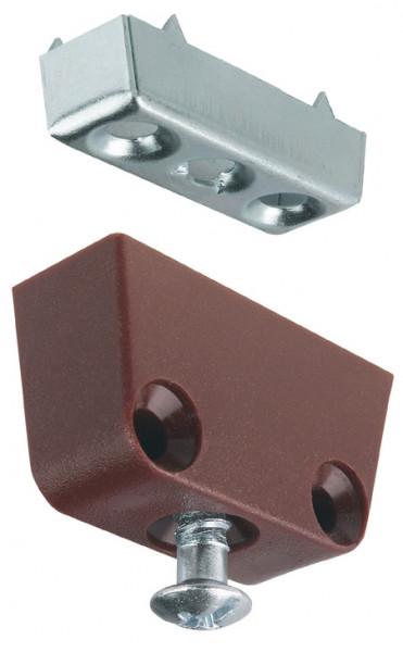 Häfele Korpusverbinder T zum Schrauben Oberteil: weiß oder braun Unterteil und Verbindungsschraube