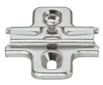 Häfele Kreuzmontageplatte Duomatic A Aufschiebetechnik Befestigung mit Spanplattenschrauben