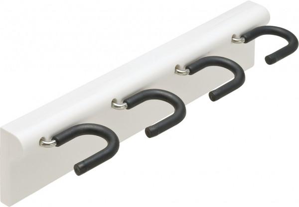 Häfele Stielgerätehalter vierfach Besenhalter 318x27x75 mm weiß
