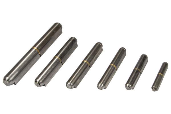 Anschweißscharnier Stahl blank AES Türband mit ausziehbarem Stift