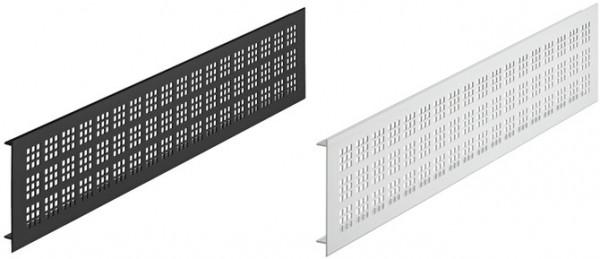 Häfele Lüftungsgitter H3636 eckig Aluminium mit gerillten Stegen
