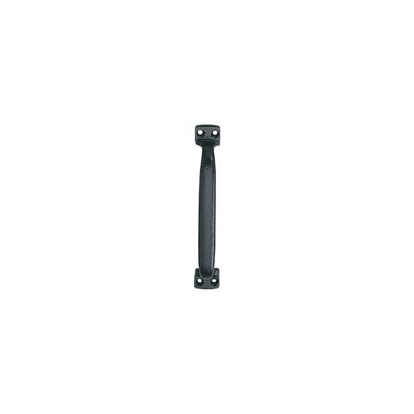 KWS Schiebetorgriff Anschraubgriff gerade Ausführung Länge 230 mm Grauguss schwarz einbrennlackiert