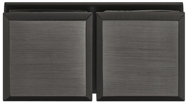 Häfele Glashalter 180 ° H2226 Messing graphit-schwarz