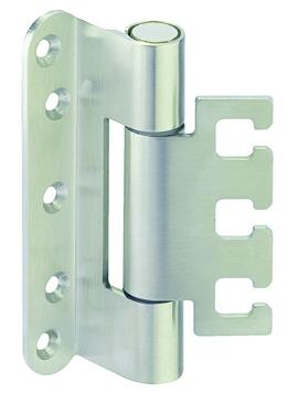 Häfele Startec Objekttürband, Größe 120 mm - Türband für Aufnahmeelement VX - für gefälzte Türen, 20