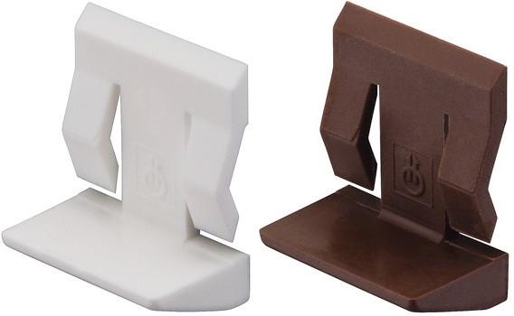 Häfele Bodenträger H3107 für Glasböden Ø 5 mm mit Einrastsicherung