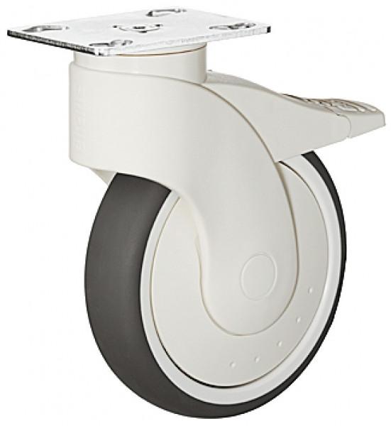 Häfele Design-Möbelrolle H4822 Tragkraft 110 kg lenkbar mit Anschraubplatte