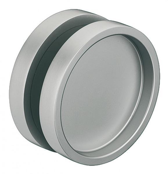 Glastür-Muschelgriff aus Aluminium rund beidseitig selbstklebend