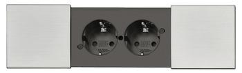 Häfele Steckdosen-Element Move 230 V mit integriertem Wasserablauf