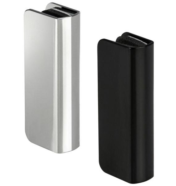 Häfele Gegenstück H6056 für Magnet-Druckverschluss Glastür Höhe 15 mm