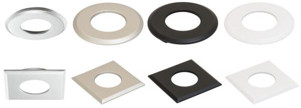 Einbaugehäuse rund oder eckig für LOOX5 LED 2040