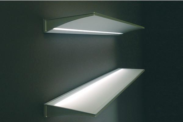 Anbauleuchte 230 V beleuchtetes Glastablar LED 1814 mit Konverter