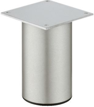 Häfele Möbelfuß H3914 Aluminium ohne Höheneinstellung mit Platte 50 - 200 mm