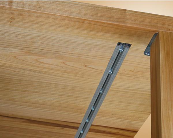 Gratleiste für massive Tischplatten