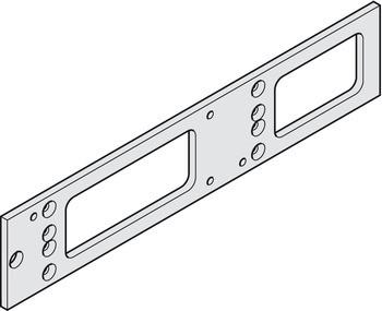 Geze Montageplatte TS 4000 und TS 5000 für Türschließer silberfarben