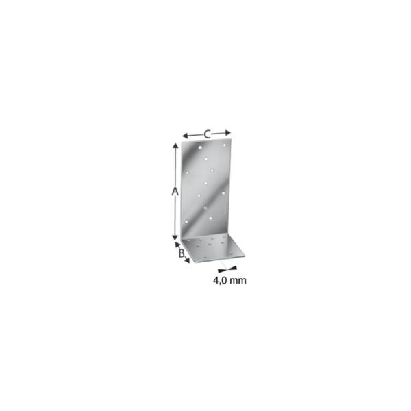 Simpson Winkelverbinder AJ 60416 / AJ 80416 feuerverzinkt mit Zulassung