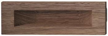 Häfele Muschelgriff Modell H1857 Holz rechteckig Nussbaum 160x50 mm