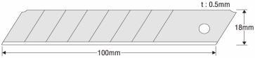 KDS Japanklingen LB-10 EVO Ersatzklingen silber 18 mm für Cuttermesser
