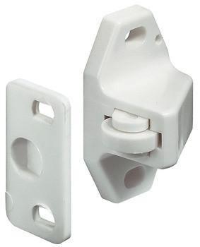 Häfele Rollenschnäpper H6070 zum Schrauben Kunststoff weiß