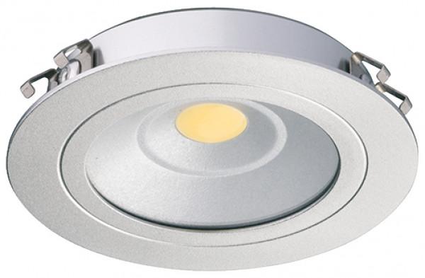 Häfele Ein-/Unterbauleuchte 24 V rund LED 3010 Loox Spot Aluminium