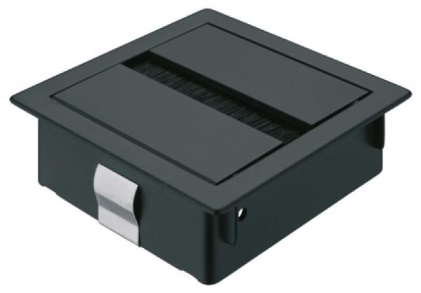 Häfele Kabeldurchlass quadratisch 80 x 80 mm Modell H9001 Kunststoff