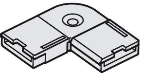 Häfele Eckverbinder 24 V für 10 mm Loox LED-Band