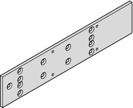 Dorma Montageplatte für TS 83 silberfarben