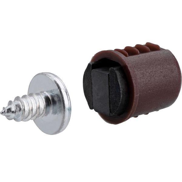 Magnetverschluss aus Kunststoff Ø 12 mm braun 2 kg
