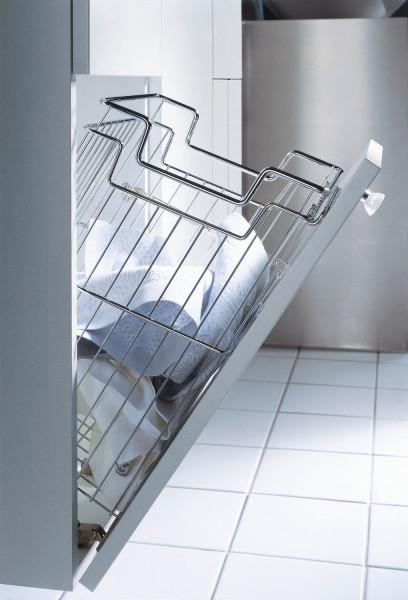 Kesseböhmer Wäschekorb Excellent mit Griffabsenkung Stahl verchromt